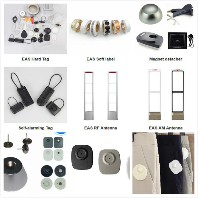 Security Tags for Retail Stores 48*42mm Dimension , ABS