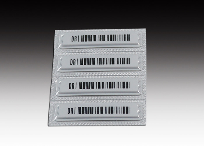White Retail Store AM DR Label , Waterproof Barcode Sensormatic DR Labels 58khz